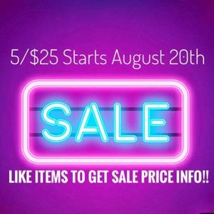 Sale starts August 20th!!